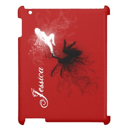 Personalize Good Fairy Bad Fairy iPad Case - Add your name to this good fairy versus evil fairy on this iPad case. http://www.zazzle.com/personalize_good_fairy_bad_fairy_ipad_case-256455960480041389?rf=238523064604734277