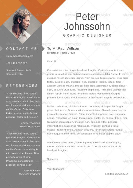 Resume Template + Cover Letter WORD by PAPPERMINT on - word resume cover letter template