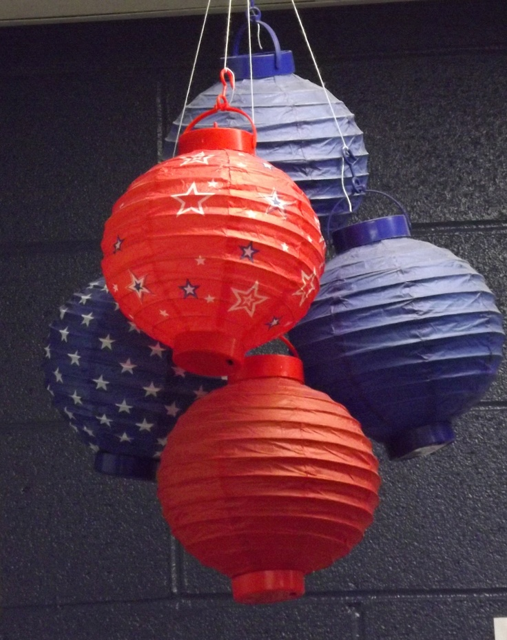 $ Store paper lanterns grouped together