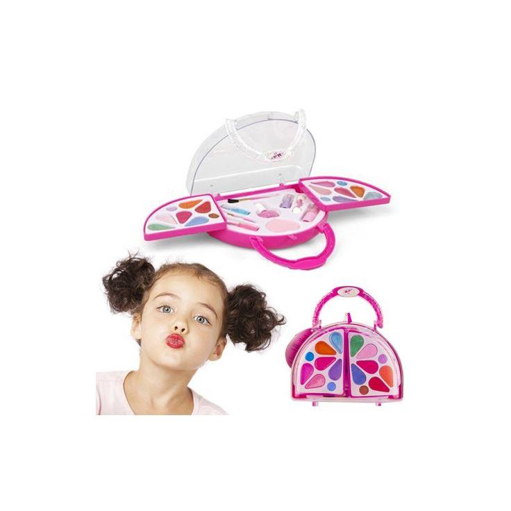 Diese tolle Schmink-Handtasche für Kinder ist ein perfektes Geschenk für Mädchen, die gerne mit Makeup spielen. Dieses umfassende Makeup-Set für Mädchen ist absolut modisch. Die Handtasche ist aus Kunststoff hergestellt und enthält verschiedene Schubladen mit einem Pinsel, Rouge, Nagellack, Lidschatten, Lippenstift... Ungiftige Materialien. Maße: ca. 15,5 x 16 x 5,5 cm.