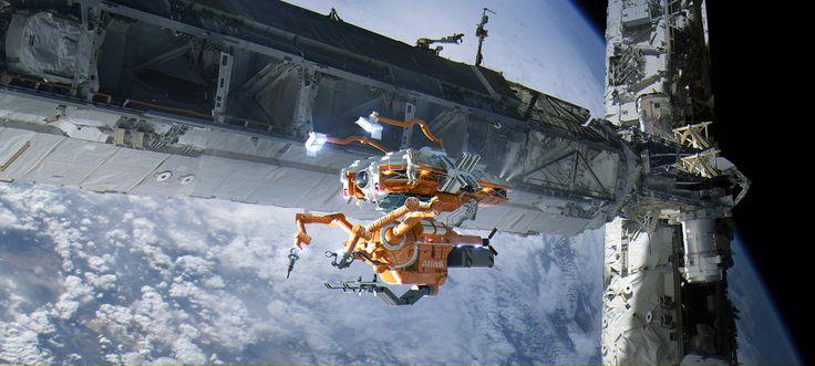 Space welder by B S on ArtStation.