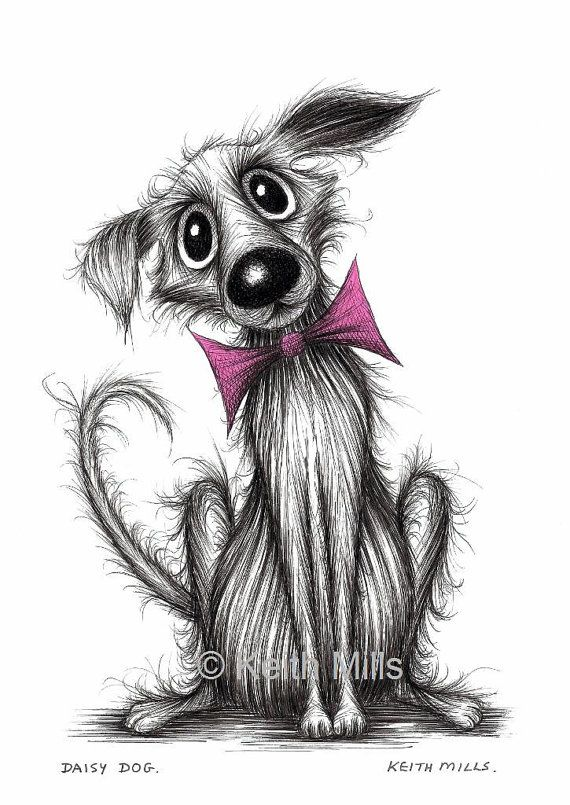 Daisy dog Print download Adorable cute pet pooch by KeithMills