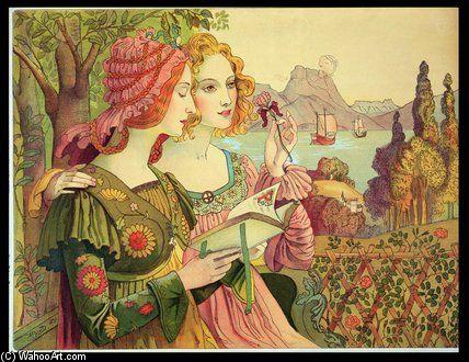"""""""La Légende dorée"""" de Armand Point (1860-1932, Algeria)"""