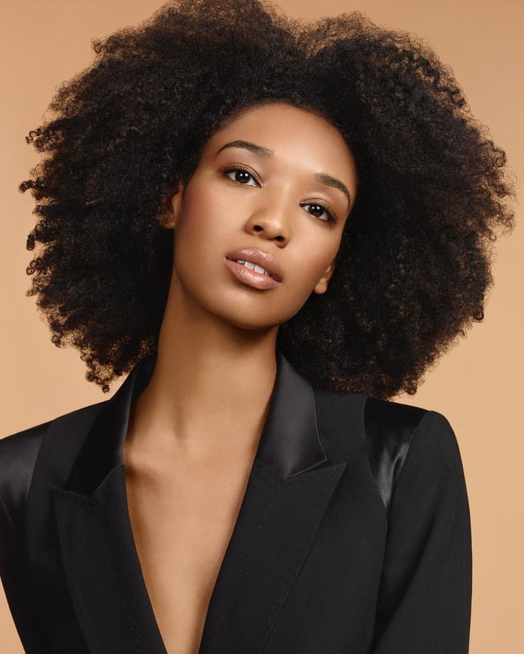 - Alysia Beckford (@aly_beckford) Kevyn Aucoin makeup campaign 17' || Afro hair. Natural hair. Curly fro. Kinky curly hair. Curly hair.