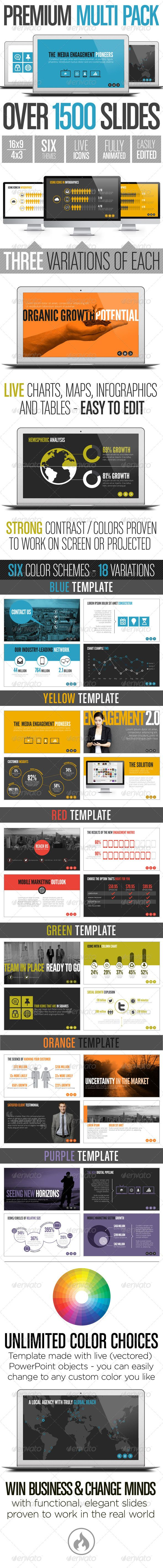 Premium Multi Pack Template System - Business Powerpoint Templates
