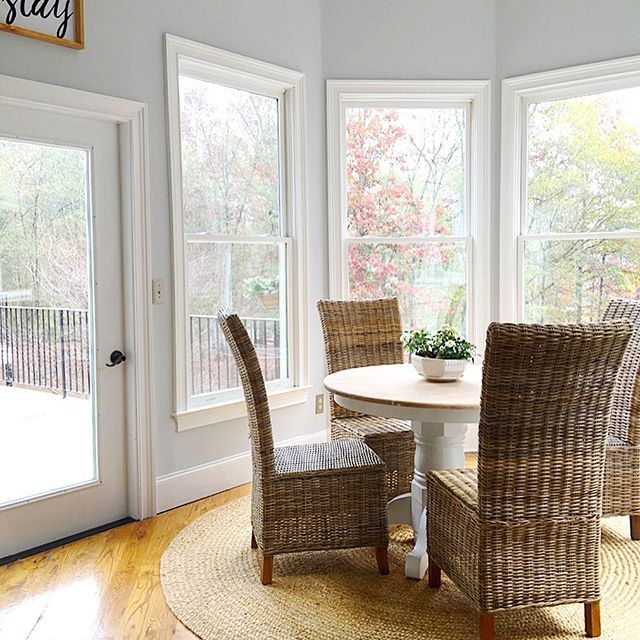 Parade Of Homes Paint Color Scheme And Tour: Breakfast Room Color In Misty From Sherwin Williams. See More Of The Home Tour At Www
