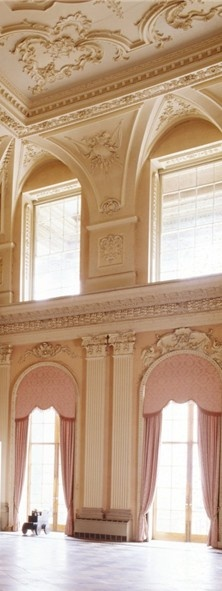 The Great Hall at Ragley Hall. The baroque plaster work was designed by James Gibbs in 1750