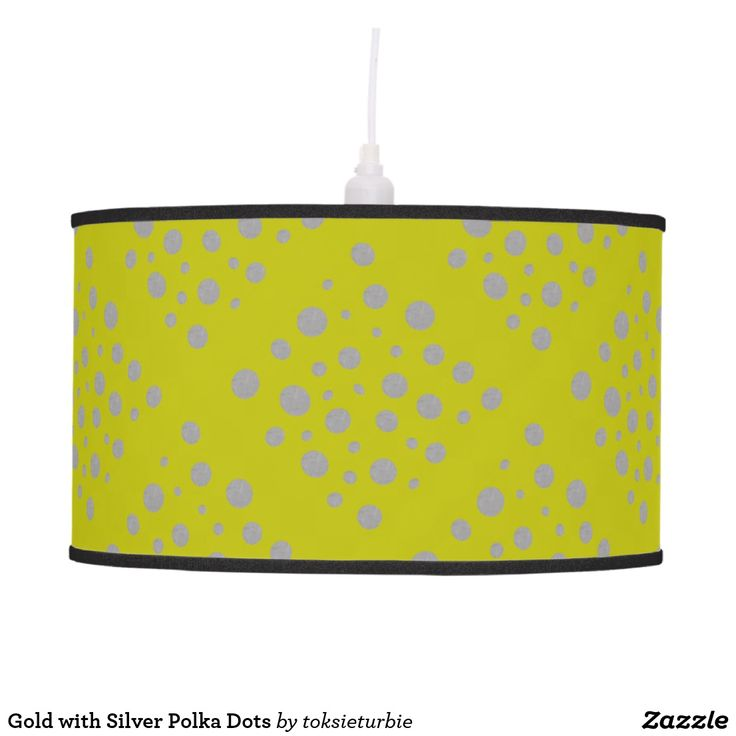 Gold with Silver Polka Dots Hanging Lamp