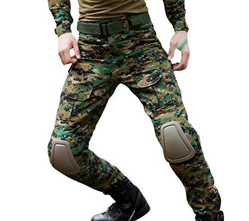 pantalon camouflage homme noir