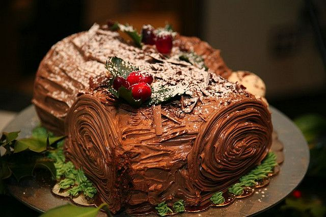 Chocolate bûche de Noël, complete with buttercream mushrooms - PastryScoop.com #Flickr