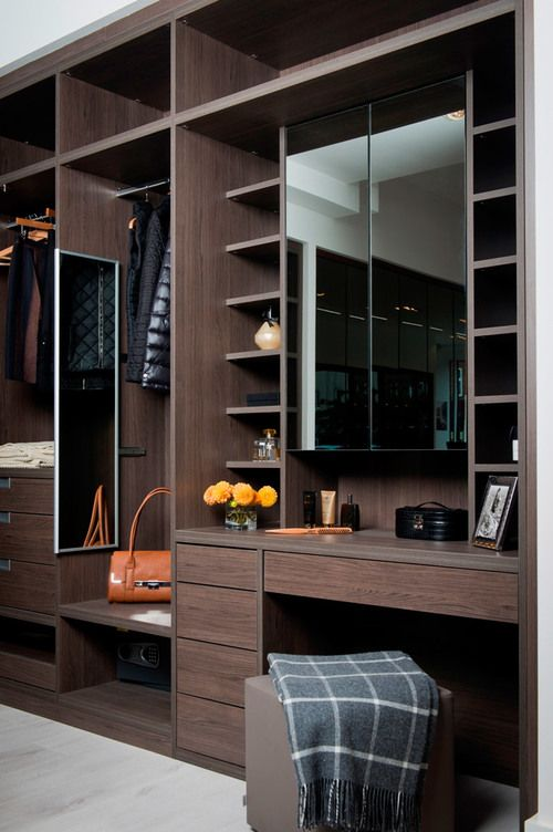 Anthracite Built-In Dressing Table