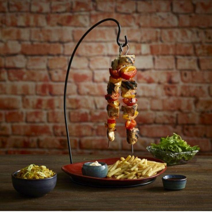 Espetada Hanging Kebab Stand - Vertical Kebab Skewer Holder for Creative Food Service: Amazon.co.uk: Kitchen & Home