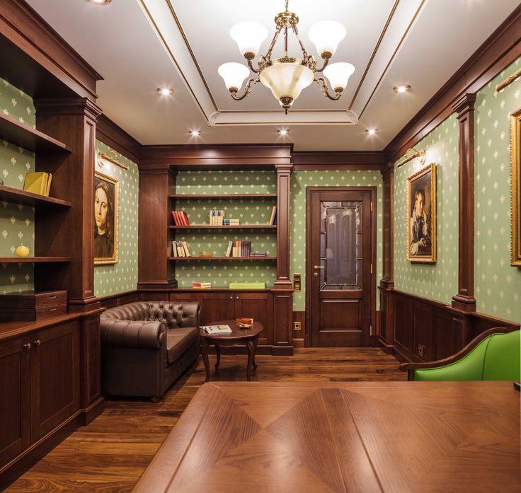 Дизайн кабинета. Стены кабинета оформлены буазери из массива дуба. architectural studio INSCALE #workroom #cabinetdesign #design #interior #homedecor #interiordesign #inscale #inscalestudio #artdeco / интерьер в ар-деко / дизайн квартиры / дизайн квартир петербург / буазери