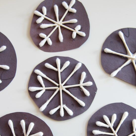 Make some snowflakes out of q-tips with the kids!