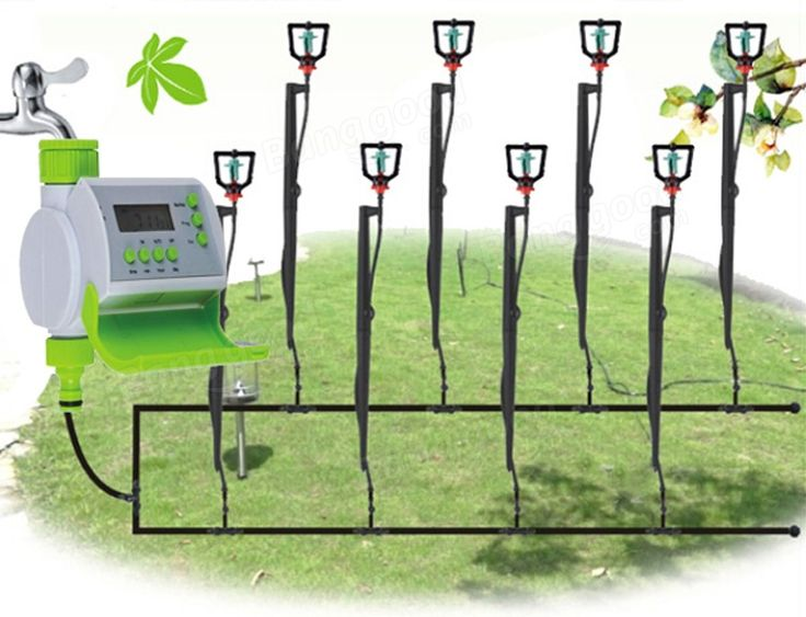 Gardening Automatic LCD Watering Timer Smart Solenoid Valve Irrigation Controller