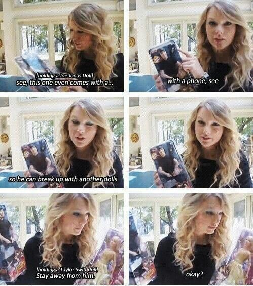 Gotta Love Tay! Haha, the biggest mistake of Joe's life was breaking up with Taylor on the phone.