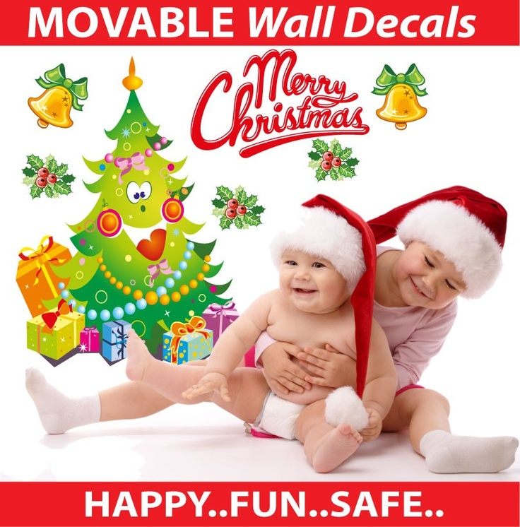 smartwalling, wall decals - Christmas Tree Smiling Wall Decal - Totally Reusable, $7.95 (http://www.wholesaleprinters.com.au/christmas-tree-smiling-wall-decal-totally-reusable)