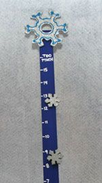 snow measuring stick craft
