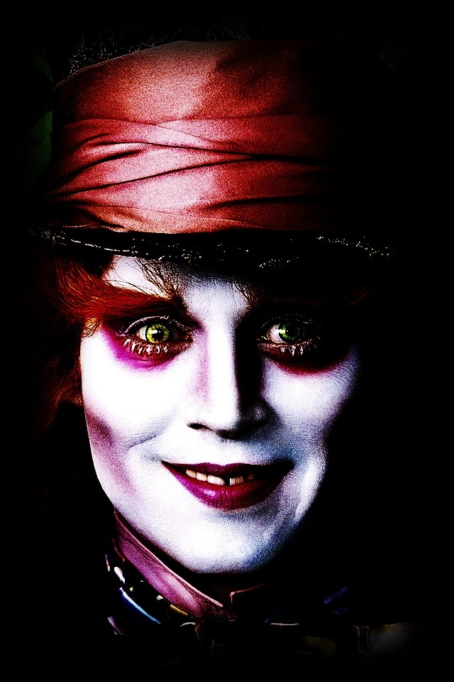Jhonny Depp in alice in wonderland #hollywood #actors