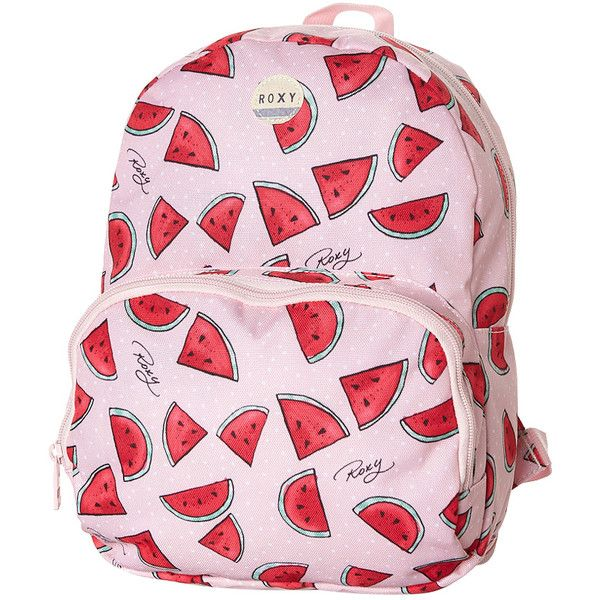 Roxy Always Core T Backpack (£16) ❤ liked on Polyvore featuring bags, backpacks, watermelon, pink backpack, backpacks bags, rucksack bag, cotton backpack and day pack backpack