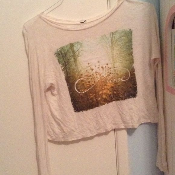Tilly's Love Infinity Long Sleeve Shirt Beautiful long sleeve love infinity shirt from Tilly's. Perfect condition! The only flaw is that it is missing the tag. Would fit an extra small, small, or a medium. Very negotiable in price! Tilly's Tops Tees - Long Sleeve