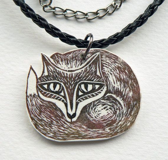 Hey, I found this really awesome Etsy listing at https://www.etsy.com/listing/123628506/fox-necklace-red-fox-jewelry-reynard-the