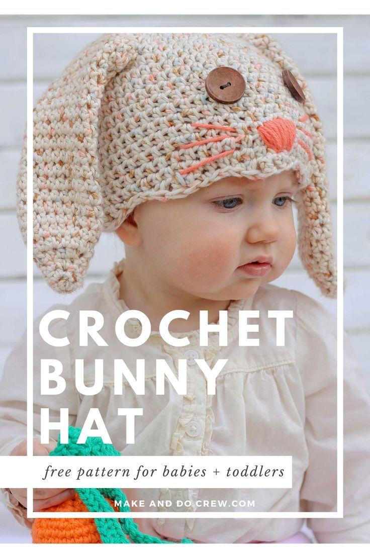 Free Crochet Bunny Hat Pattern Newborn Toddler Make Do Crew In 2020 Crochet Baby Hats Free Pattern Baby Hat Free Pattern Crochet Baby Hats