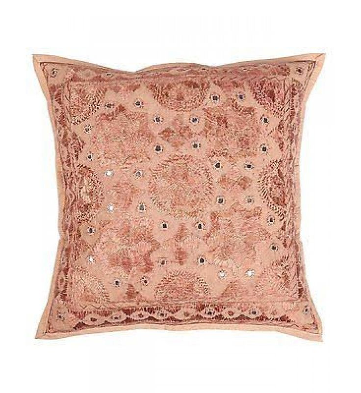 indian decorative light brown hippie boho chic sofa pillow throw