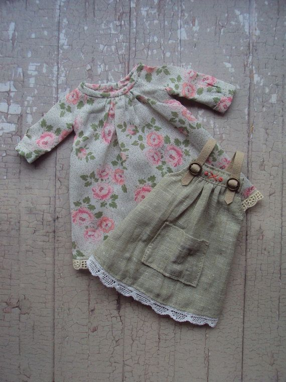 Little Gardener Set for Blythe Dolls Pink par moshimoshistudio
