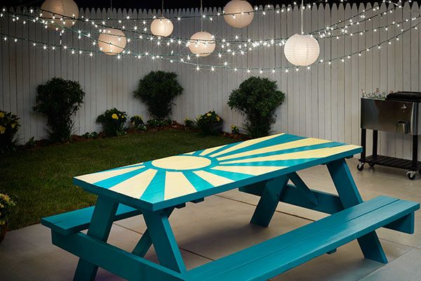 Painted Outdoor Furniture Ideas