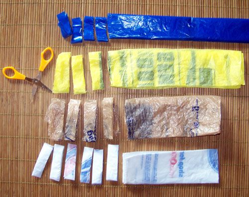 How to Make Plarn. Learn how to make plarn, a yarn made out of plastic grocery bags. Plarn is a great way to recycle plastic bags.