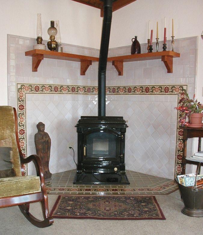 Beautiful Surrounds For Wood Burning Stoves | Custom Made Arts U0026 Crafts Wood Stove  Surround: Decorative