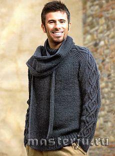 мужской пуловер и шарф » Мастерю - все своими руками