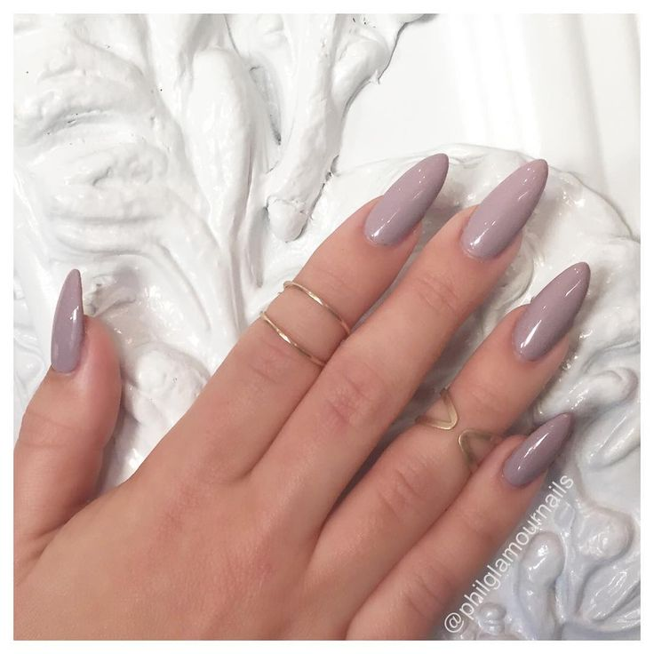 Lilac/ light purple almond acrylic nails