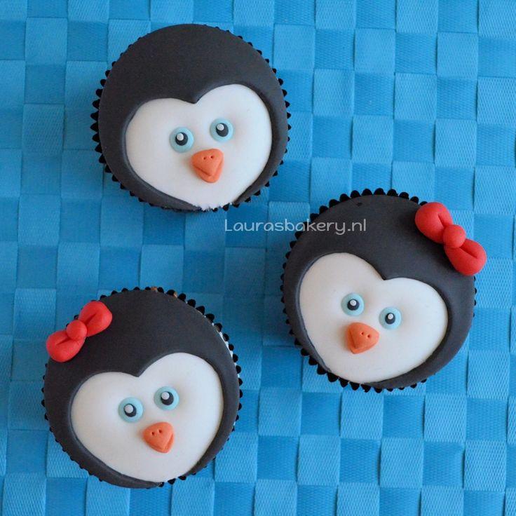 Pinguïn cupcakes - Laura's Bakery