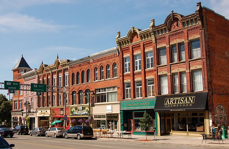 Stratford Ontario, home of the Stratford Festival Theatre has many shops to explore. Lots of B's to enjoy a weekend away.