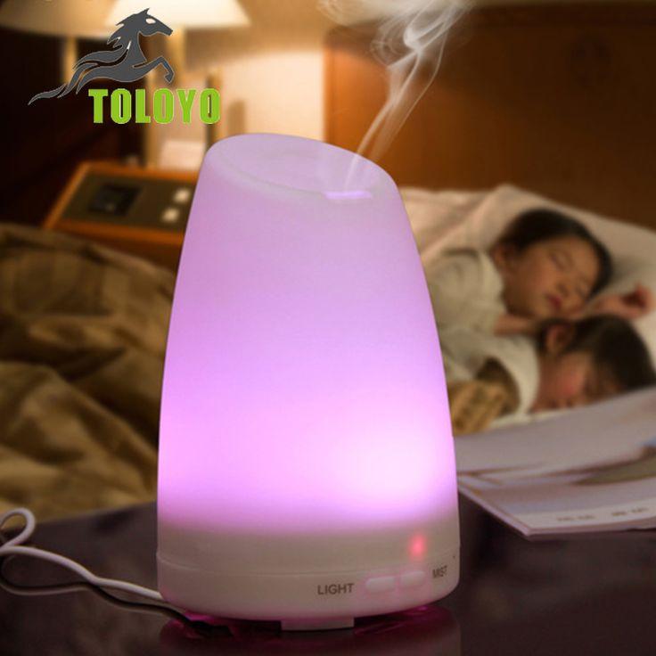 Toloyo vernebler ätherisches öl diffusor Aromatherapie luftbefeuchter Mit Ändern 7 Farbe Led-leuchten ultraschall teichnebler