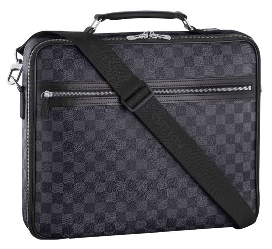 #LV Steeve Messenger Bag Damier Graphite Canvas With Leather Very Good Conditions ref.code-(KCTT-4)
