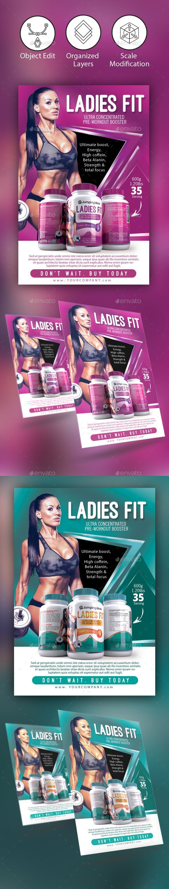 Fitness/ Gym Flyer Template - Corporate Flyers