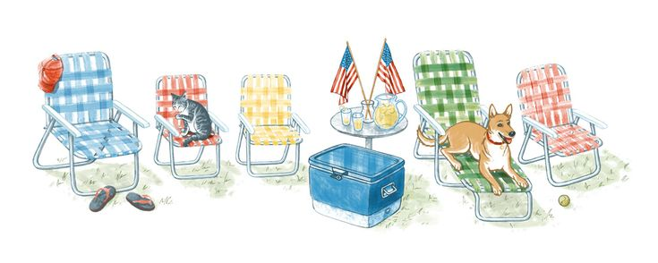 4th of july google doodle