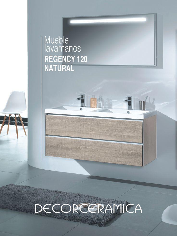 Dale una mirada a un mueble lavamanos que cambiará tus baños, gracias a su elegante diseño estilo madera, su amplitud y sistema de rieles inteligentes con cierre lento.   #Decorceramica #siemprealgonuevo #inspiradoenti #nuevosbaños #bañosmodernos #baños