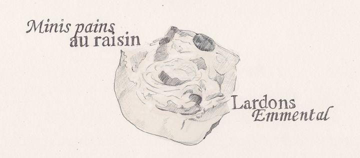 Blog Cuisine & DIY Bordeaux - Bonjour Darling - Anne-Laure: Minis pains au raisin lardons - emmental