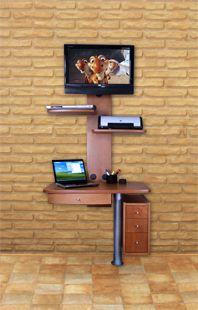 ML CARPINTEROS - Muebles giratorios para TV de plasma y LCD, Mesas para Computadoras, Laptops y Muebles Utilitarios