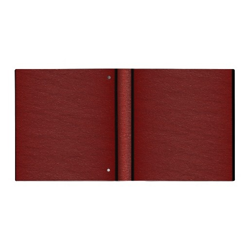 Simple Red Leather - Binder