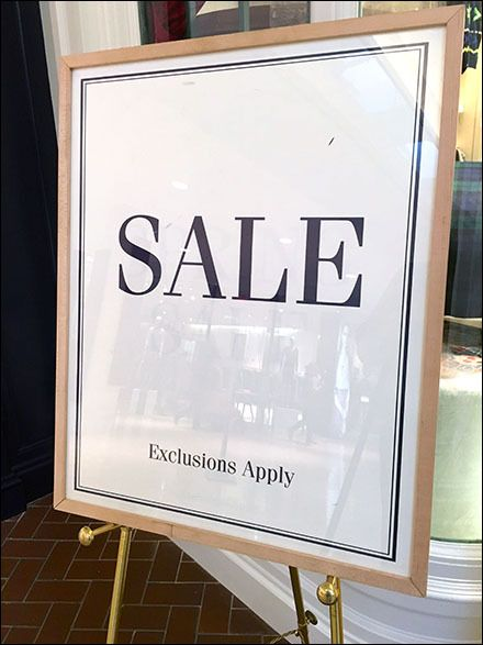 Elegant Exclusions Apply Sale Sign Easel