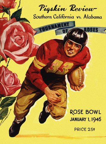 1946 Rose Bowl Game Program - USC vs Alabama
