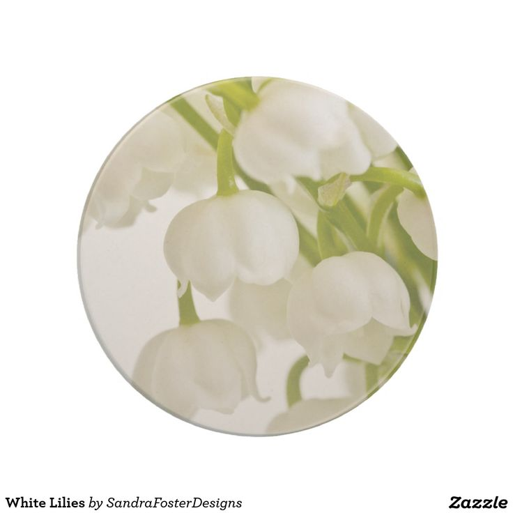 White Lilies Beverage Coasters