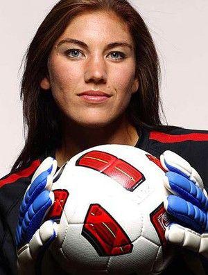 Hope Solo. American soccer goalkeeper.
