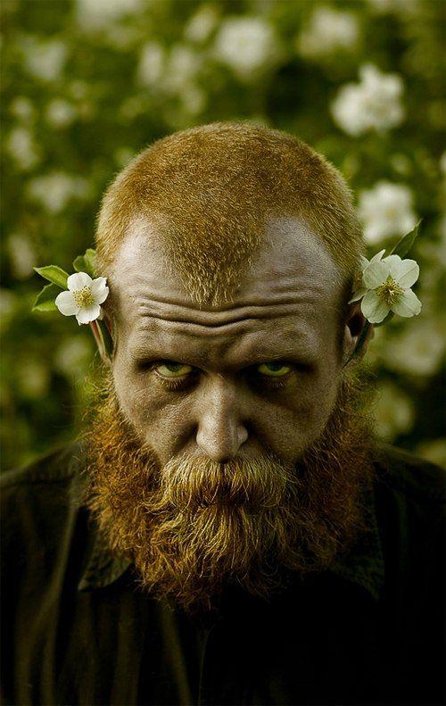 men, beards and flowers !!