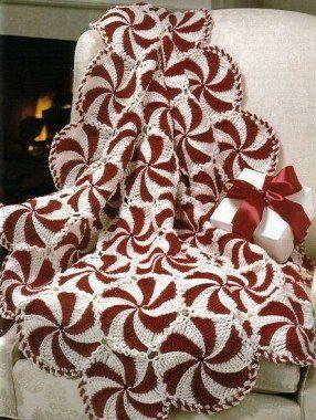 Swirly Christmas afghan
